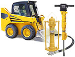 Skid Steer High Back Pressure Hydraulic Post Driver